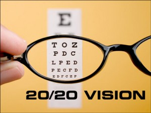 Just so we don't get confused, here's some more numbers for you. If you  have 20/40 vision then this depicts that when you are standing 20 feet away  from the ...