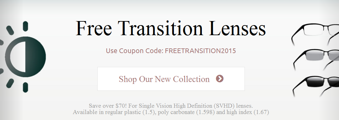 Need an Upgrade? Get a Free Transition Tint on Swift Single Vision Frames until October 31!